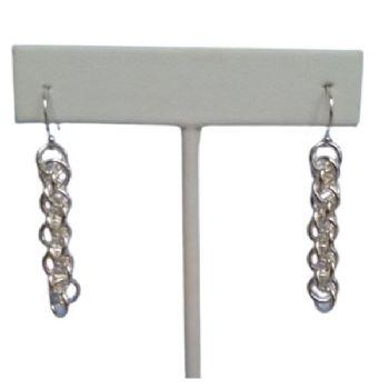 JPL Chain Maille Silver Earrings